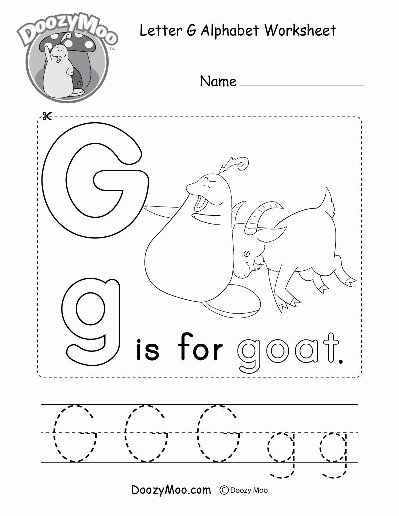 Letter G Worksheets for Kindergarten Elegant Letter G Alphabet Activity Worksheet Doozy Moo