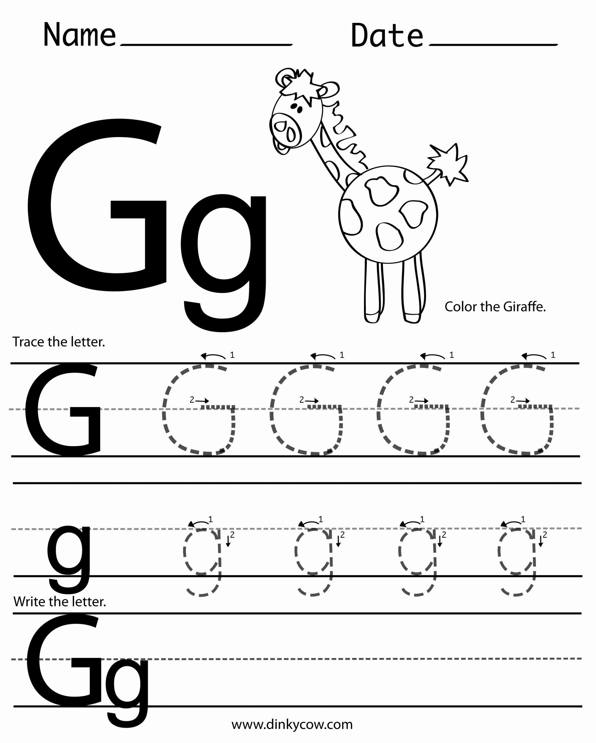 Letter G Worksheets for Kindergarten Fresh 6 Best Of Free Printable Alphabet Letter G