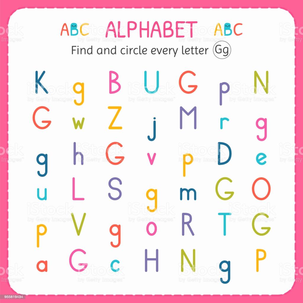 Letter G Worksheets for Kindergarten Lovely Find and Circle Every Letter G Worksheet for Kindergarten