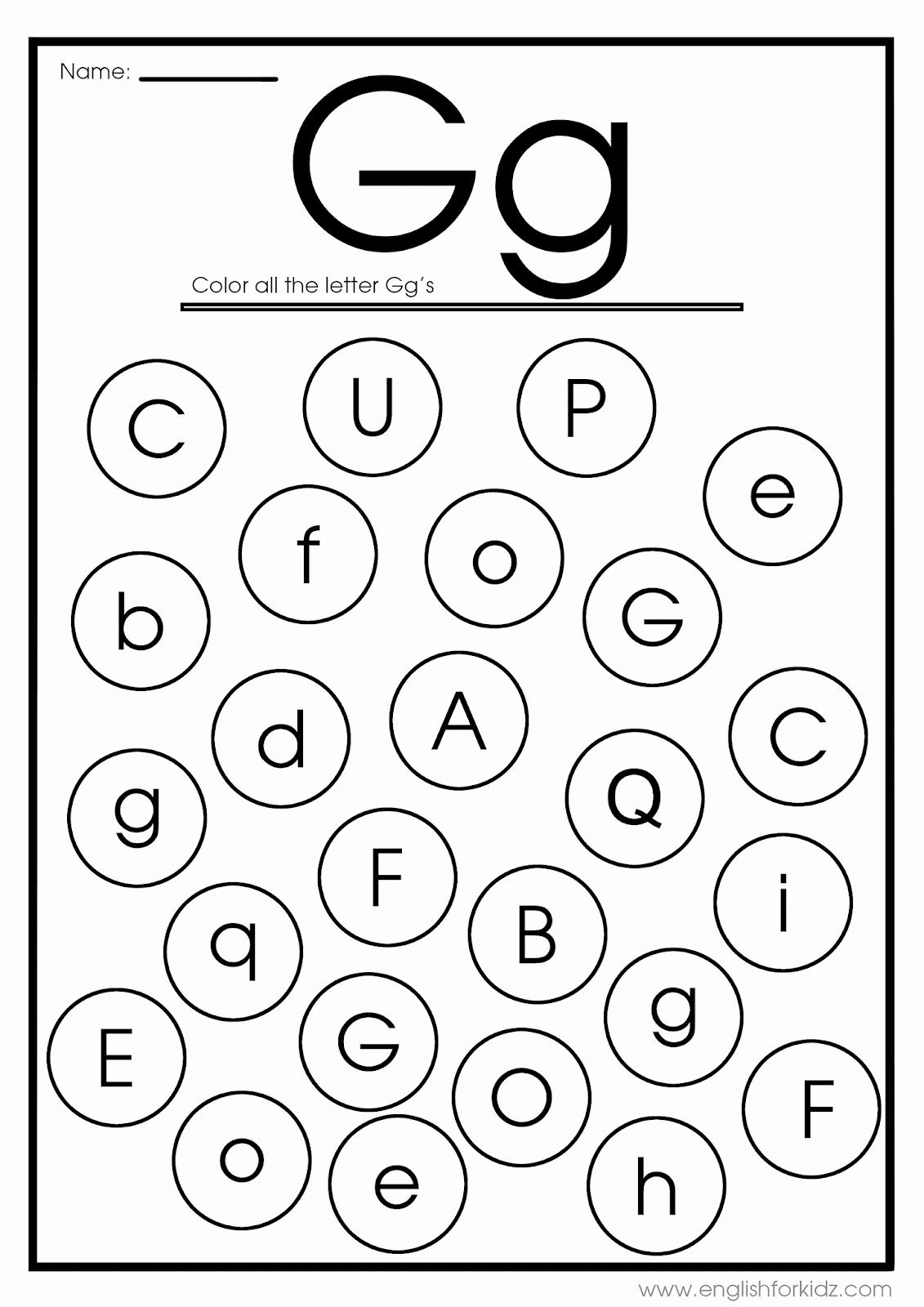 Letter G Worksheets for Kindergarten Luxury English for Kids Step by Step Letter G Worksheets Flash
