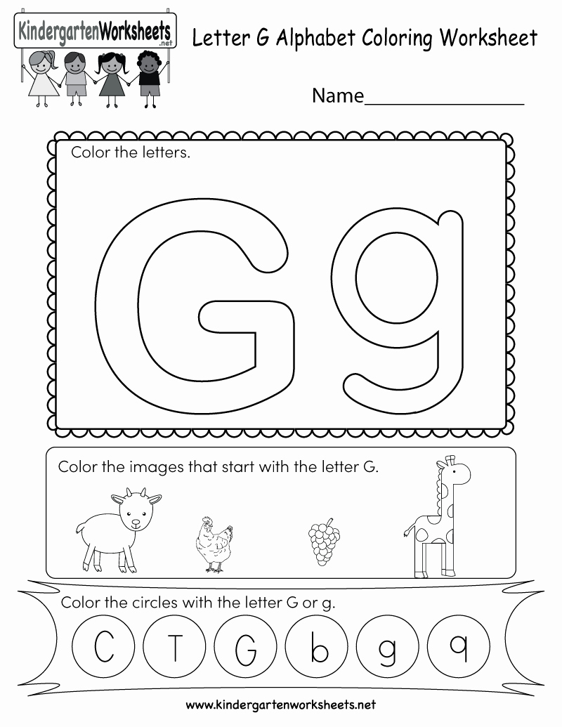 Letter G Worksheets for Kindergarten New Letter G Coloring Worksheet Free Kindergarten English