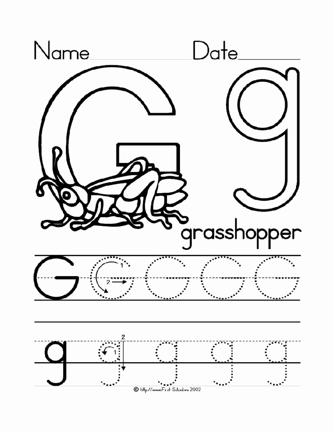 Letter G Worksheets for Kindergarten Unique 16 Best Of Traceable Letter G Worksheet Letter G