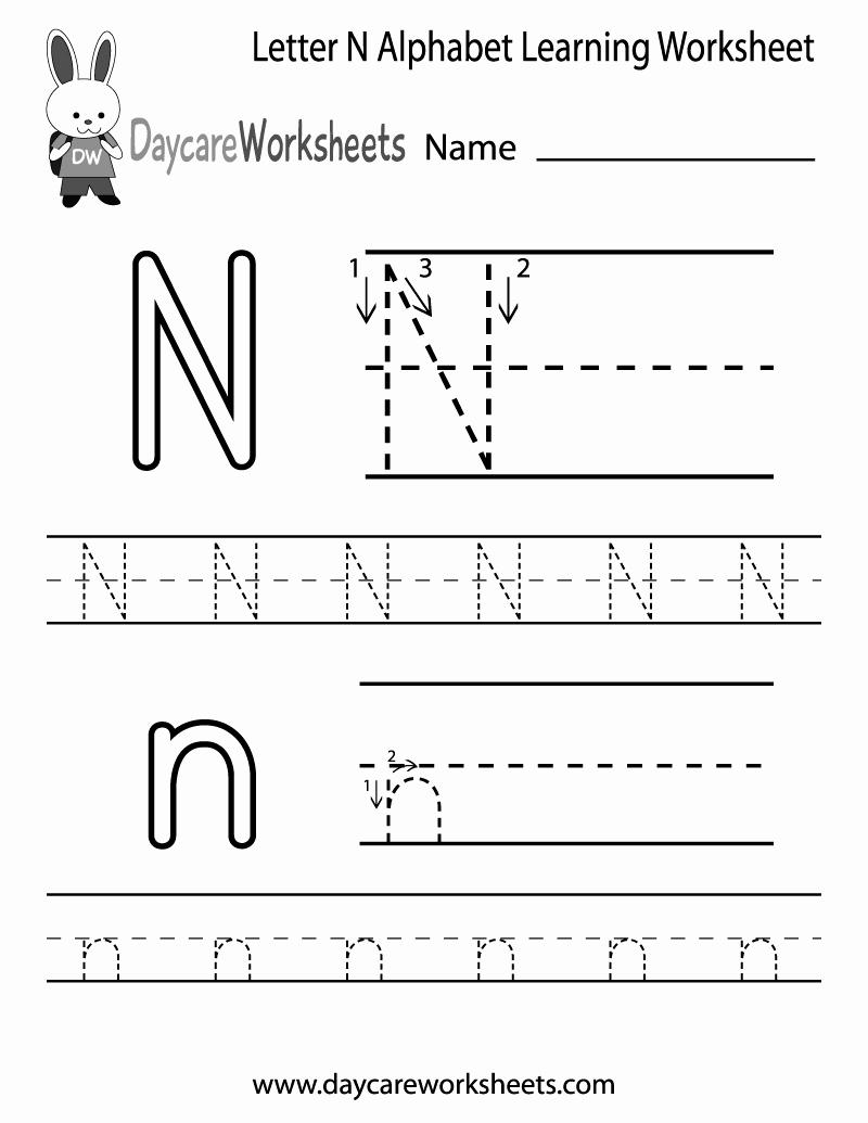 Letter N Worksheets for Kindergarten Awesome 14 Interesting Letter N Worksheets for Kids