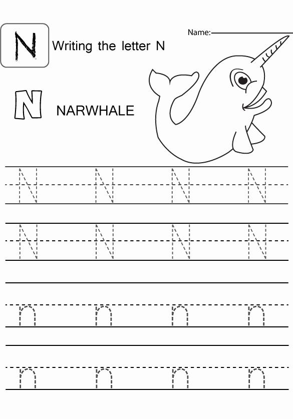 Letter N Worksheets for Kindergarten Beautiful Letter Capital and Small N Worksheet Preschool Crafts