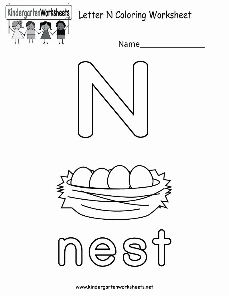 Letter N Worksheets for Kindergarten Best Of 14 Interesting Letter N Worksheets for Kids