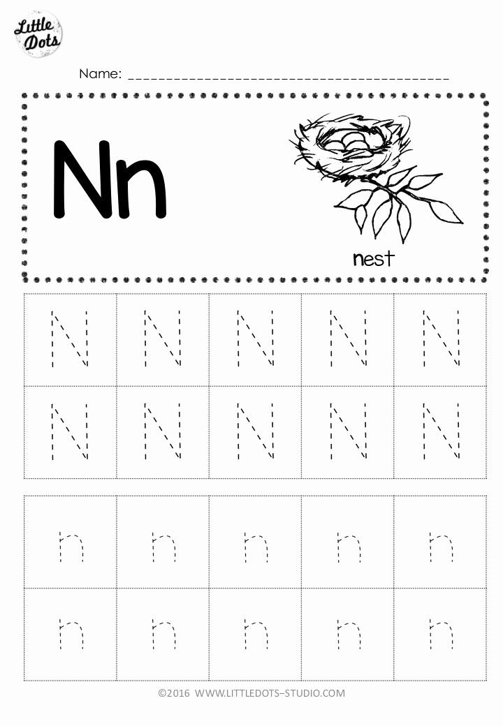 Letter N Worksheets for Kindergarten Lovely Free Letter N Tracing Worksheets