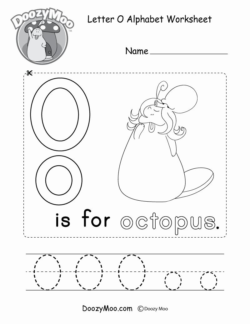 Letter O Worksheet for Kindergarten Awesome Letter O Alphabet Activity Worksheet Doozy Moo