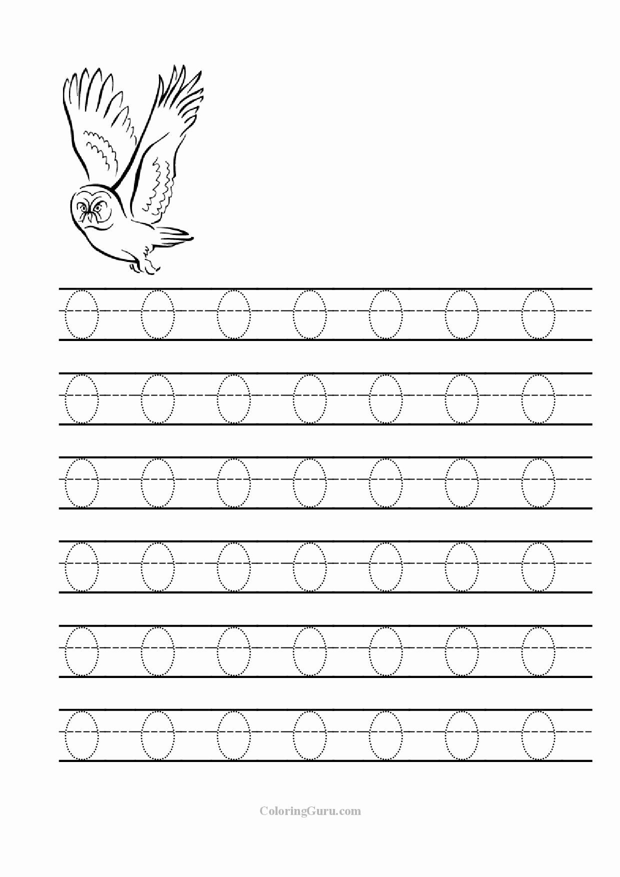 Letter O Worksheet for Kindergarten Beautiful Trace Letter O Worksheets
