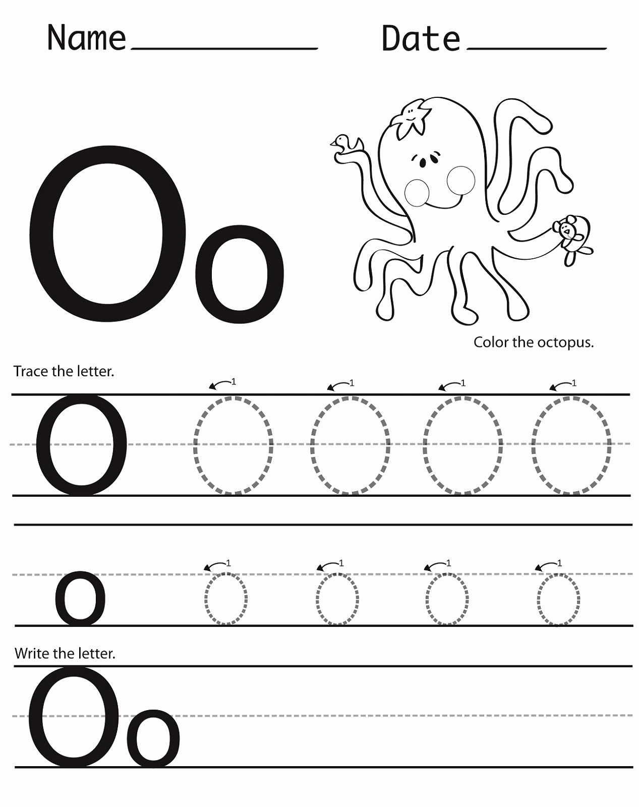 Letter O Worksheet for Kindergarten Beautiful Trace Letter O Worksheets Preschool