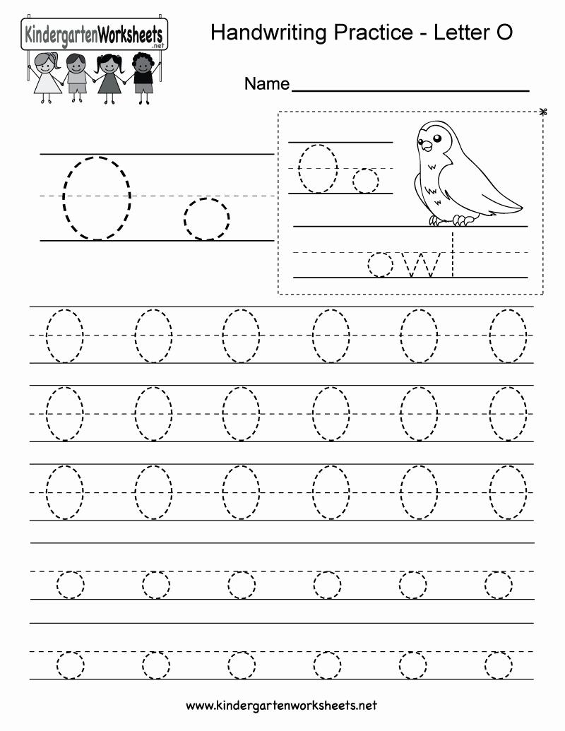 Letter O Worksheet for Kindergarten Best Of Letter O Writing Practice Worksheet Free Kindergarten