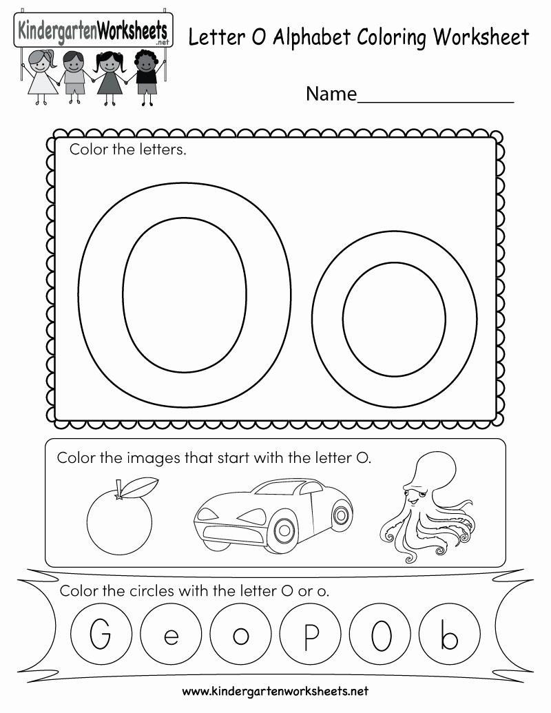 Letter O Worksheet for Kindergarten Elegant Letter O Coloring Worksheet Free Kindergarten English