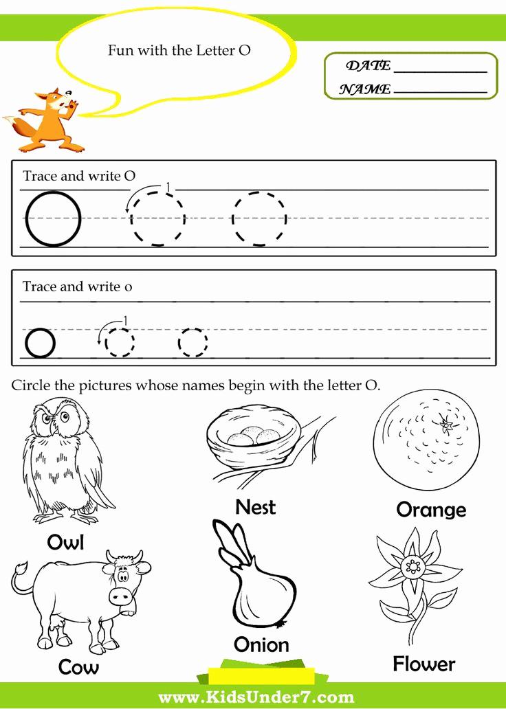 Letter O Worksheet for Kindergarten Inspirational Kindergarten Worksheets for the Letter O Google Search
