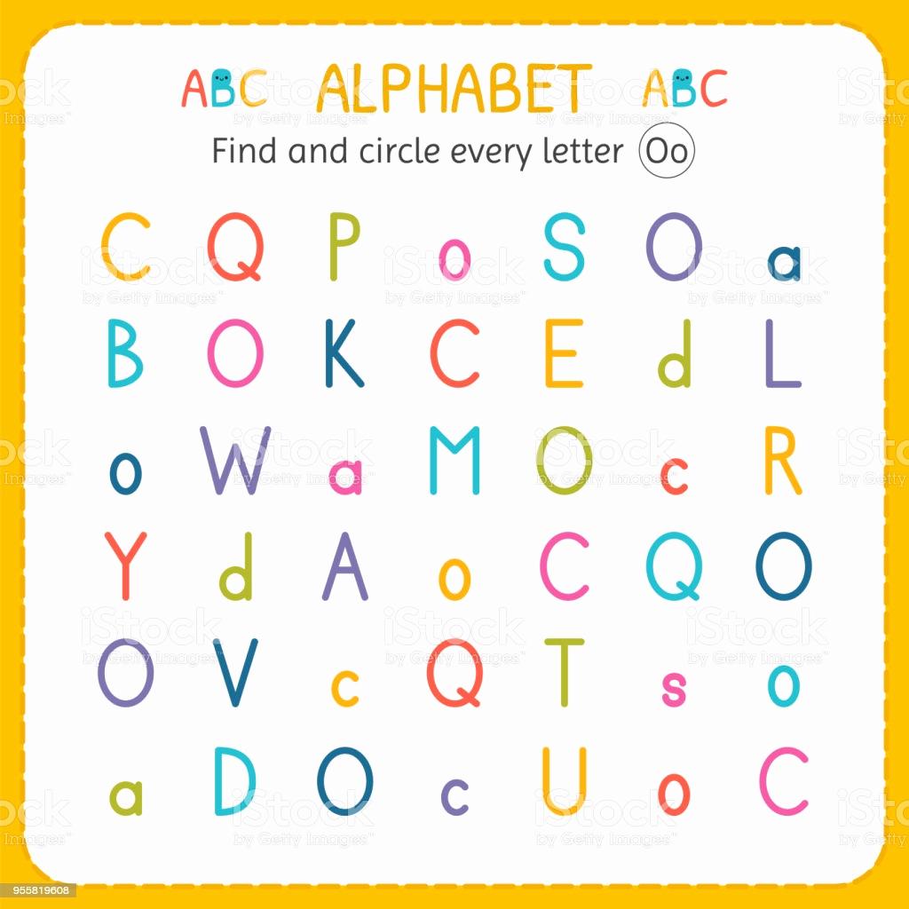 Letter O Worksheet for Kindergarten Lovely Find and Circle Every Letter O Worksheet for Kindergarten