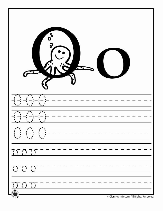 Letter O Worksheet for Kindergarten Lovely Learn Letter O