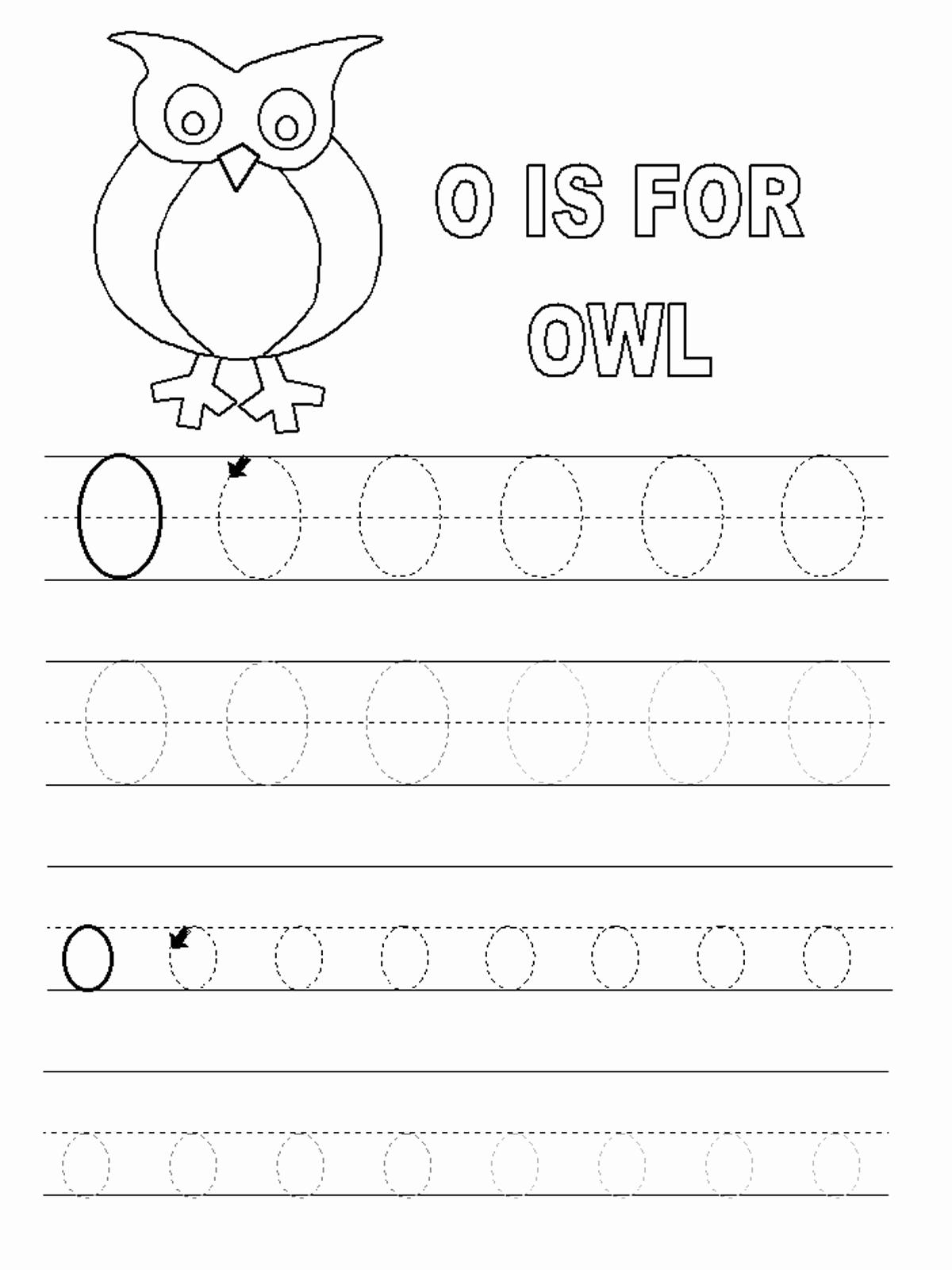 Letter O Worksheet for Kindergarten Luxury Letter O Worksheets for Preschool