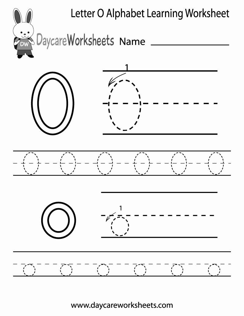 Letter O Worksheet for Kindergarten New Free Letter O Alphabet Learning Worksheet for Preschool