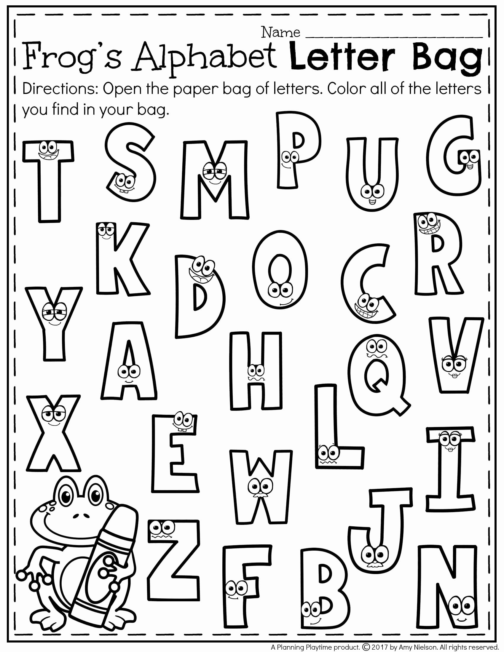 Letter Recognition Worksheets for Kindergarten Beautiful Letter Recognition Worksheets Teachers Pay Teachers My