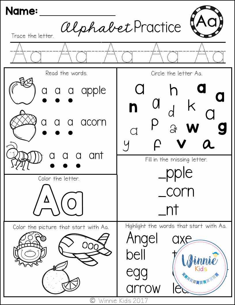 Letter Recognition Worksheets for Kindergarten Beautiful these Alphabet Printables are Perfect for assessments as