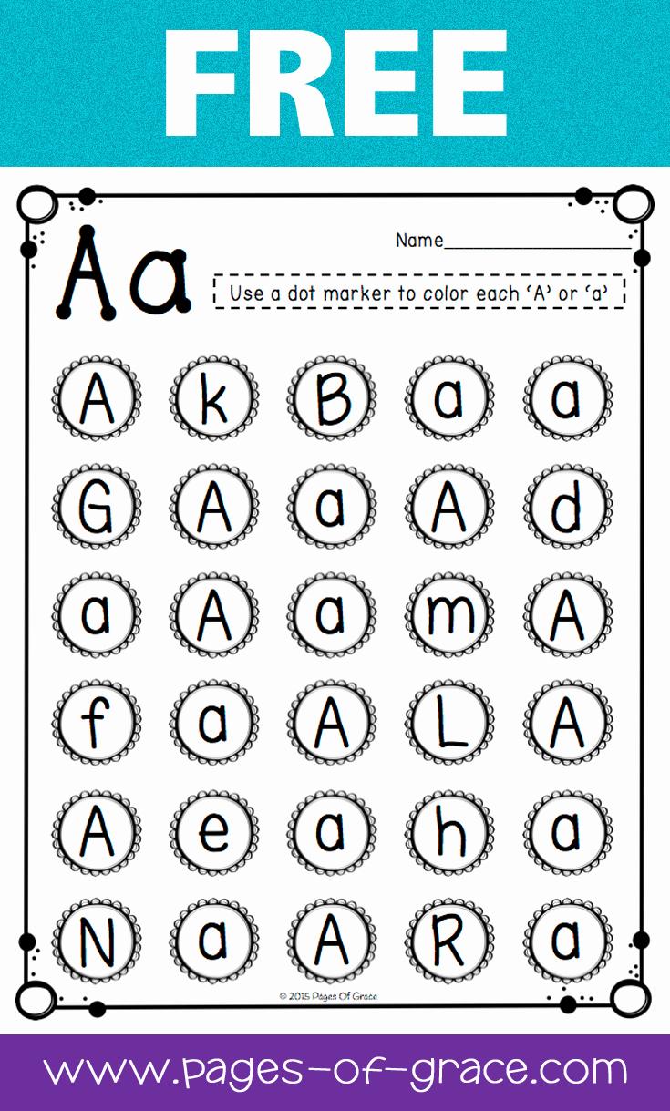 Letter Recognition Worksheets for Kindergarten Best Of Letter Recognition