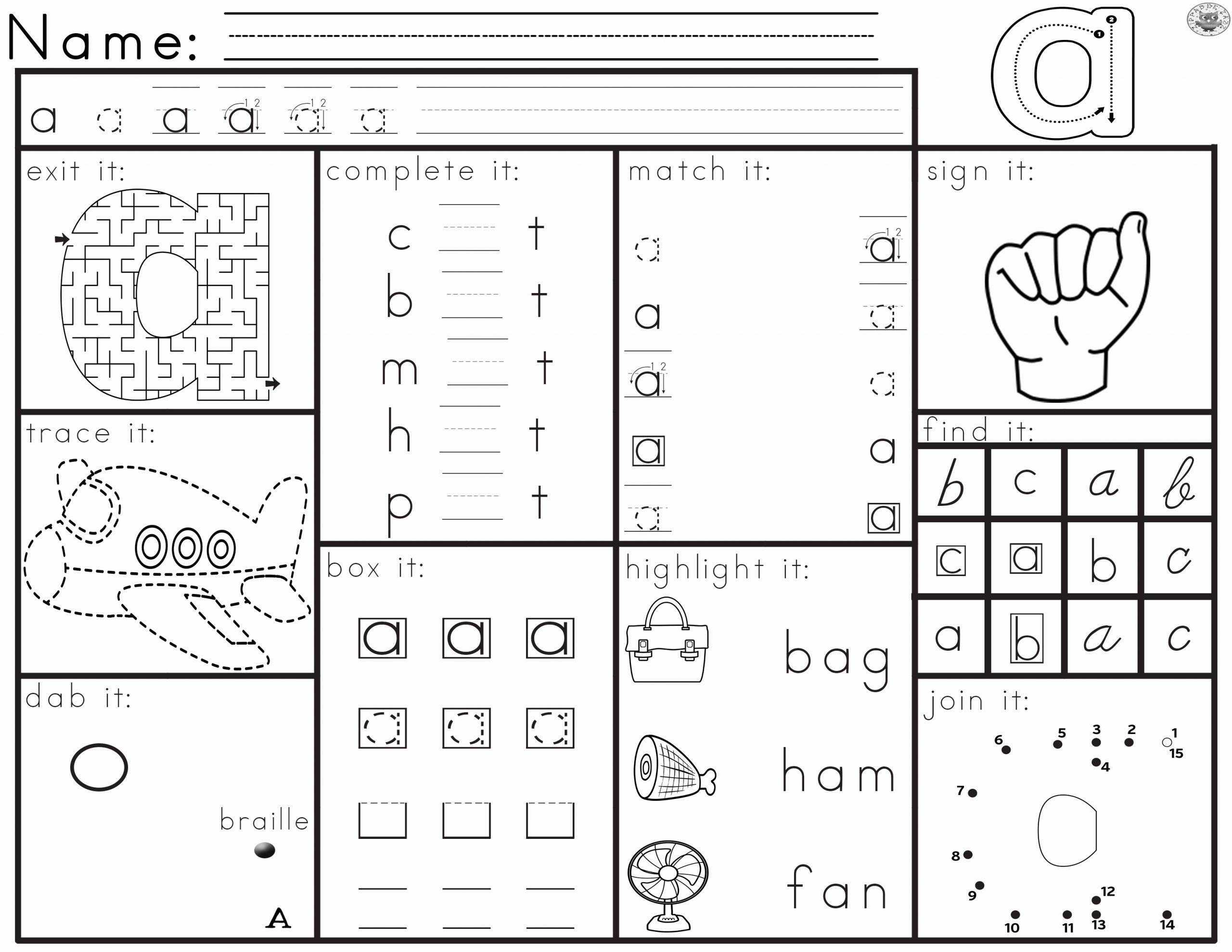 Letter Recognition Worksheets for Kindergarten Lovely Worksheets for Letter Recognition