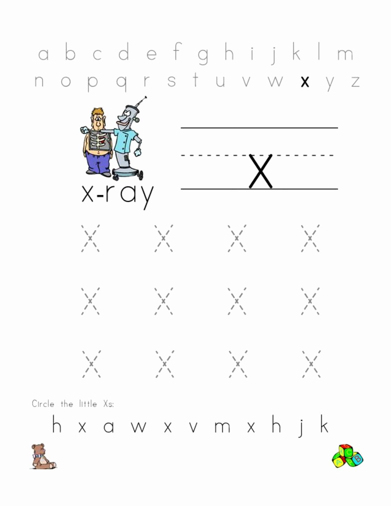 Letter X Worksheets for Kindergarten Awesome Free Letter X Worksheets for Preschool Preschool Crafts