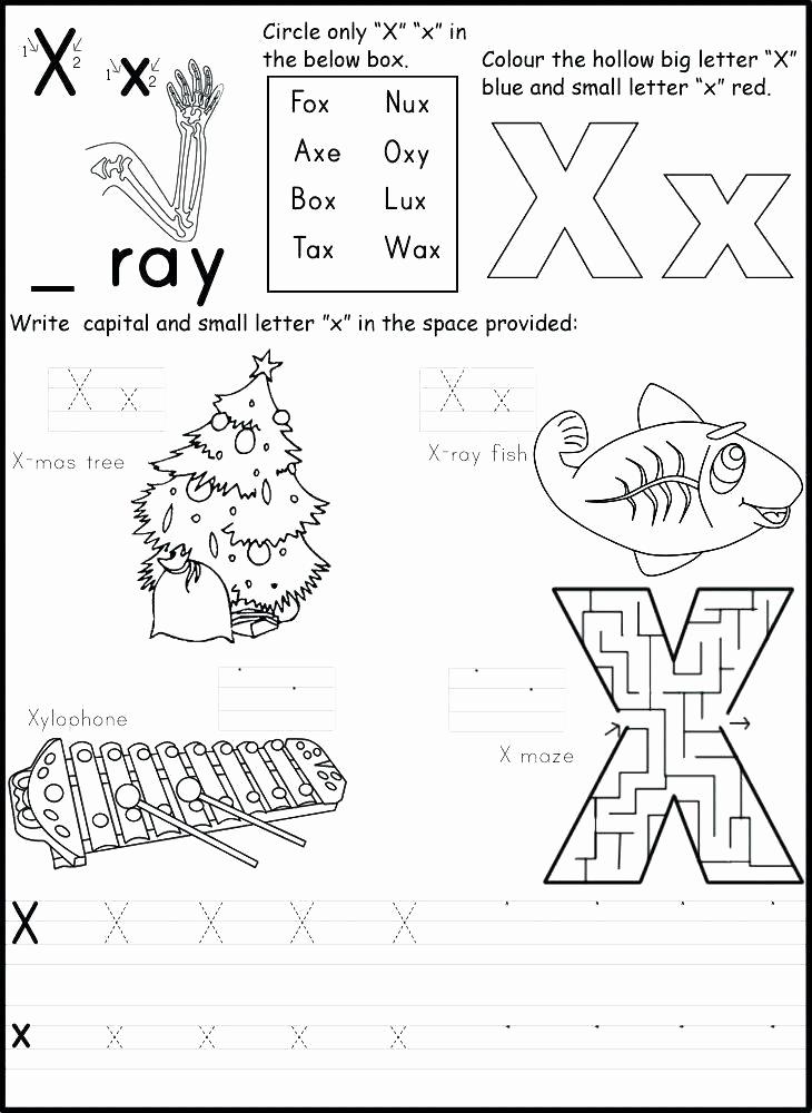 Letter X Worksheets for Kindergarten Awesome Letter X Worksheets for Kindergarten 1st Grade Alphabet