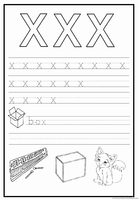 Letter X Worksheets for Kindergarten Fresh Trace and Write the Lowercase Letter X Worksheet