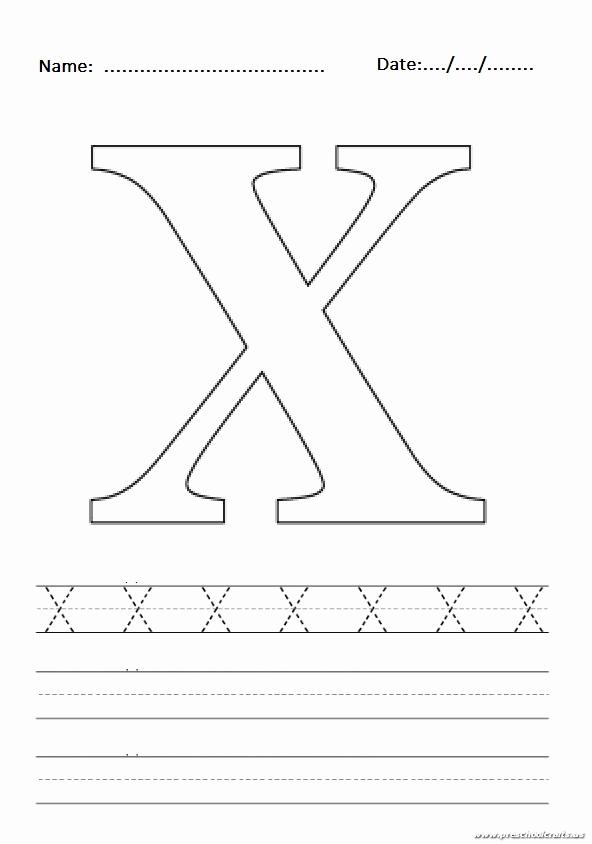 Letter X Worksheets for Kindergarten Fresh Uppercase Letter X Worksheet Free Printable Preschool