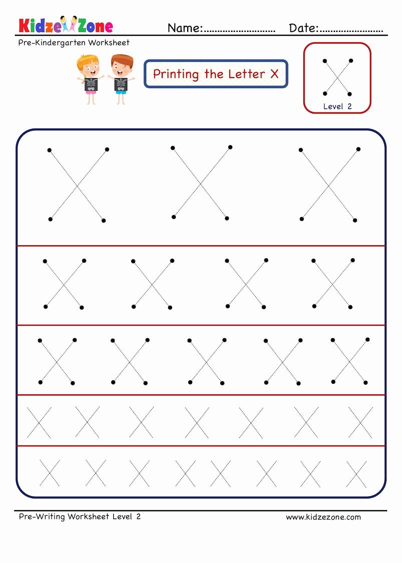 Letter X Worksheets for Kindergarten Inspirational Preschool Letter X Tracing Worksheet In Different Sizes