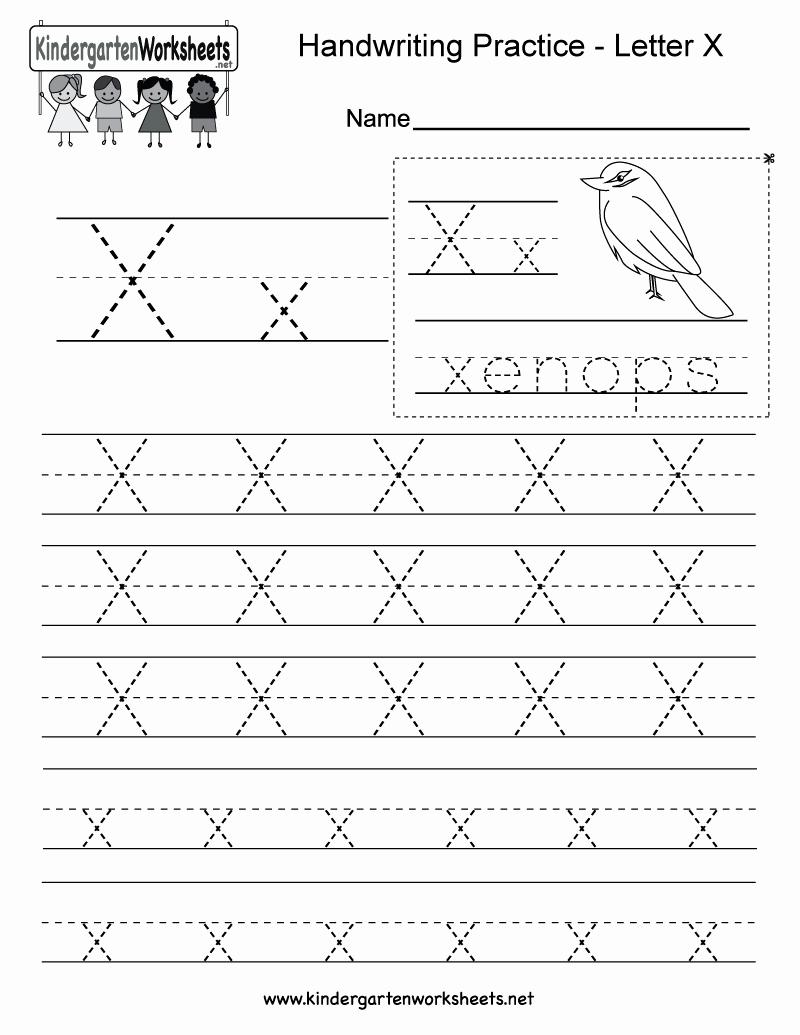 Letter X Worksheets for Kindergarten Lovely Letter X Writing Practice Worksheet Free Kindergarten