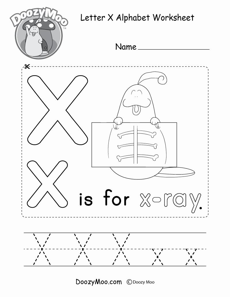 Letter X Worksheets for Kindergarten Unique Letter X Alphabet Activity Worksheet Doozy Moo