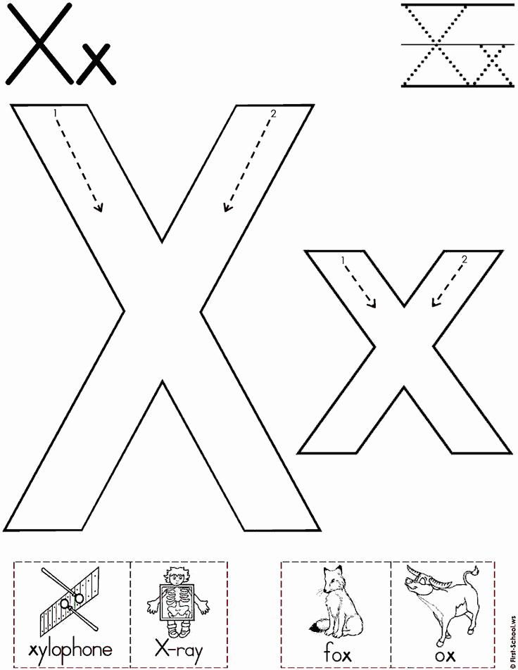 Letter X Worksheets for Kindergarten Unique Letter X Worksheets for Alphabet Practice Preschool Crafts