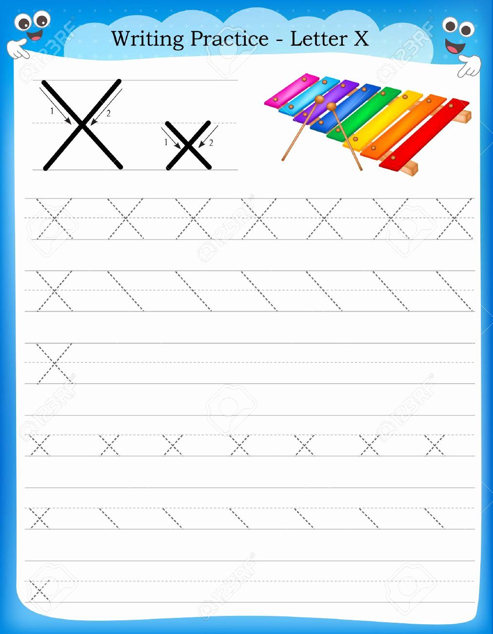 Letter X Worksheets for Kindergarten Unique Letter X Worksheets for Kindergarten