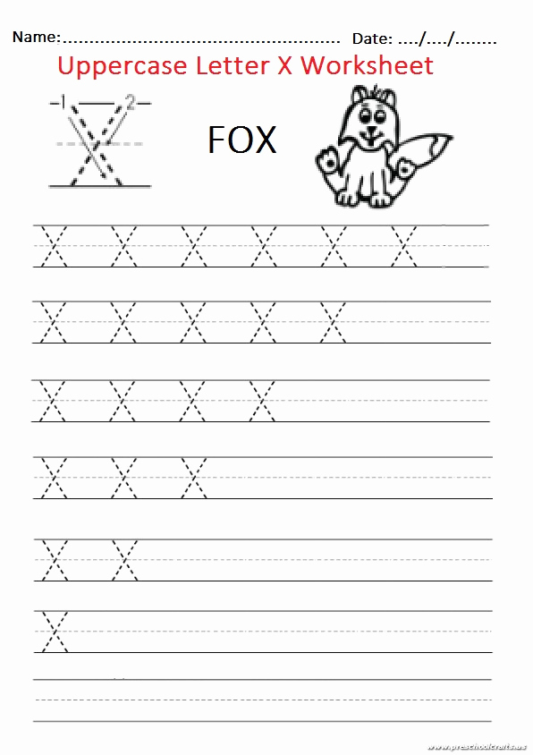 Letter X Worksheets for Kindergarten Unique Trace the Uppercase Letter X Worksheet for Firstgrade and