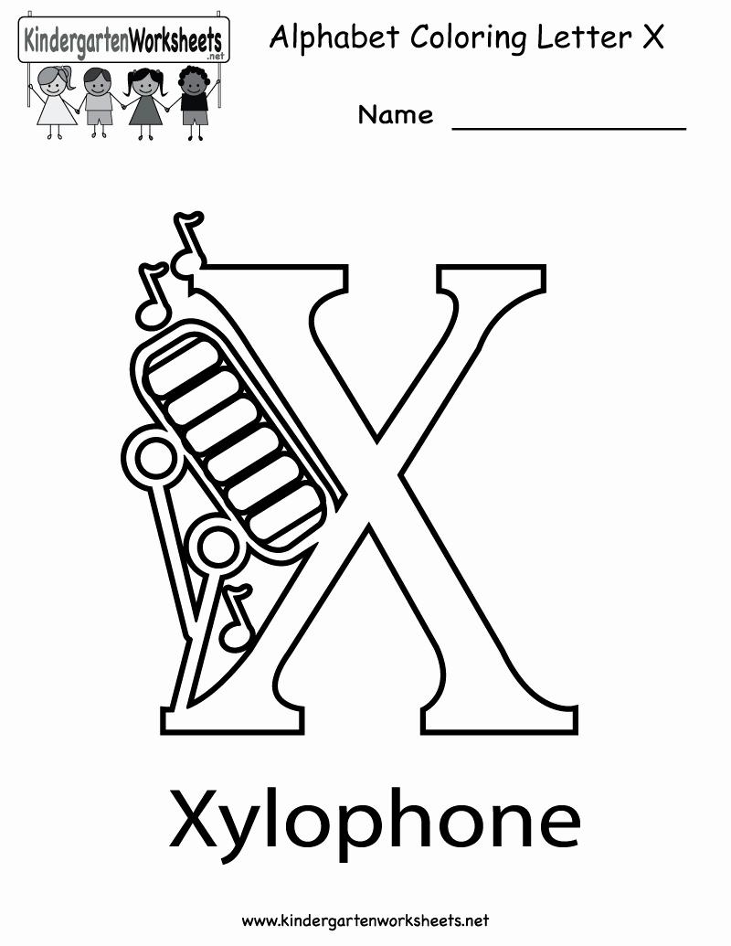 Letter X Worksheets Kindergarten Fresh 6 Best Of Printable Letter X Activities Free