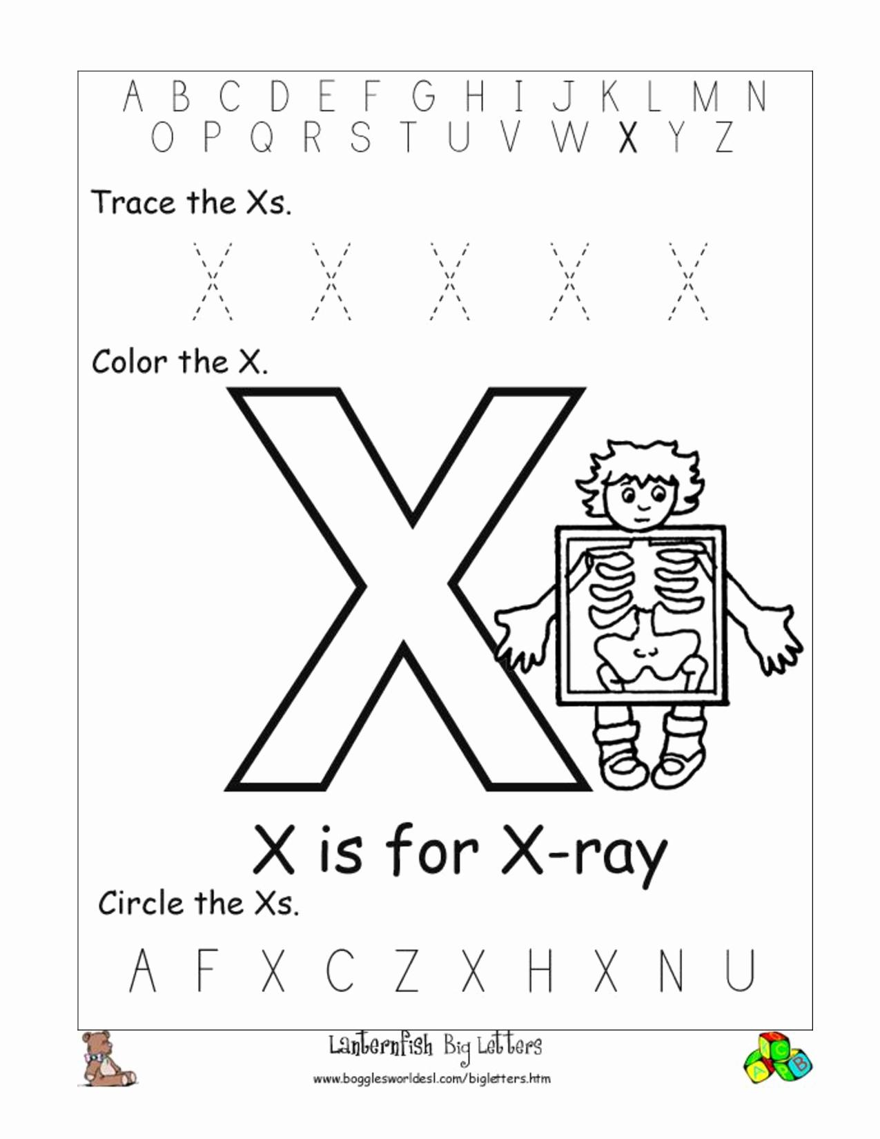 Letter X Worksheets Kindergarten Lovely Letter Worksheet Category Page 35 Worksheeto