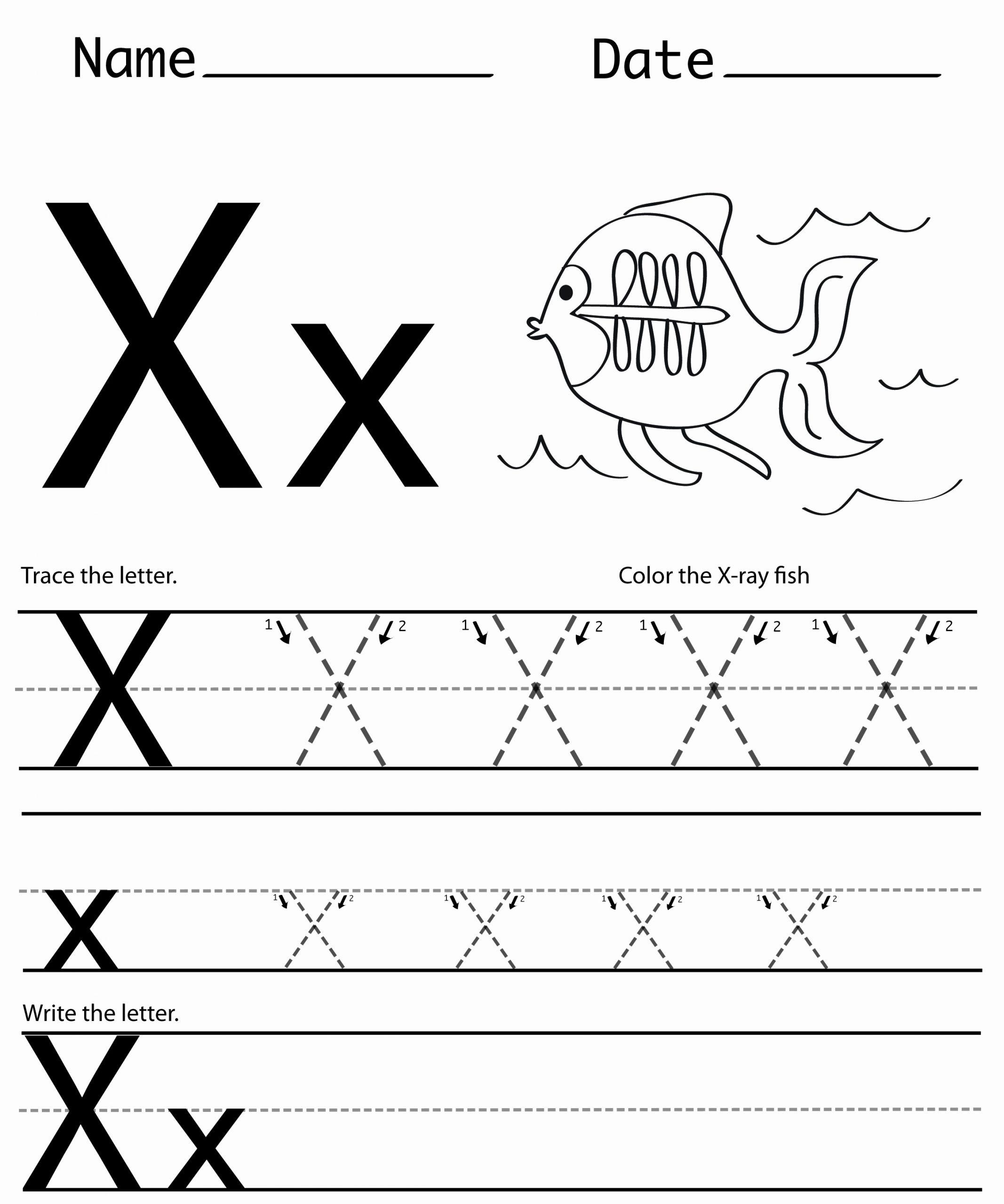 Letter X Worksheets Kindergarten Lovely Letter X Printables Worksheets Preschool Crafts