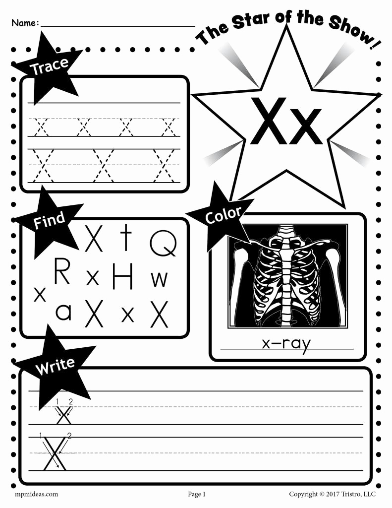 Letter X Worksheets Kindergarten Lovely Letter X Worksheet Tracing Coloring Writing & More
