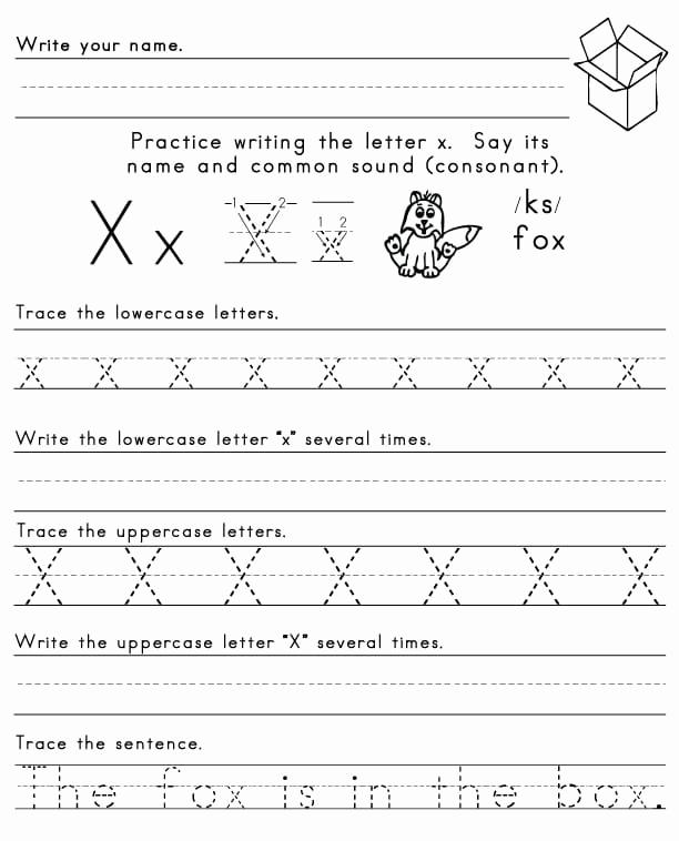 Letter X Worksheets Kindergarten Lovely the Letter X