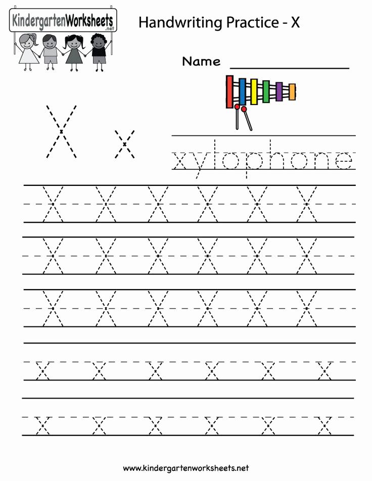 Letter X Worksheets Kindergarten Luxury 17 Best Images About Writing Worksheets On Pinterest