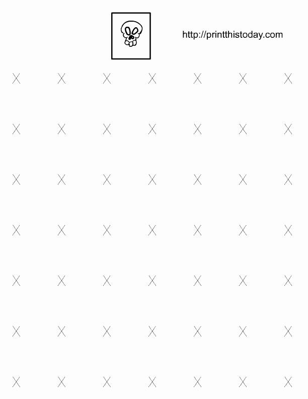 Letter X Worksheets Kindergarten New Alphabet X Tracing Worksheets for Preschool and Kindergarten