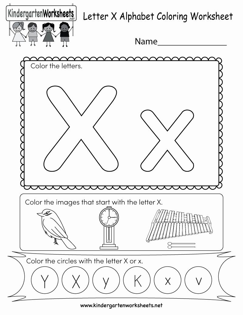 Letter X Worksheets Kindergarten New Letter X Coloring Worksheet Free Kindergarten English