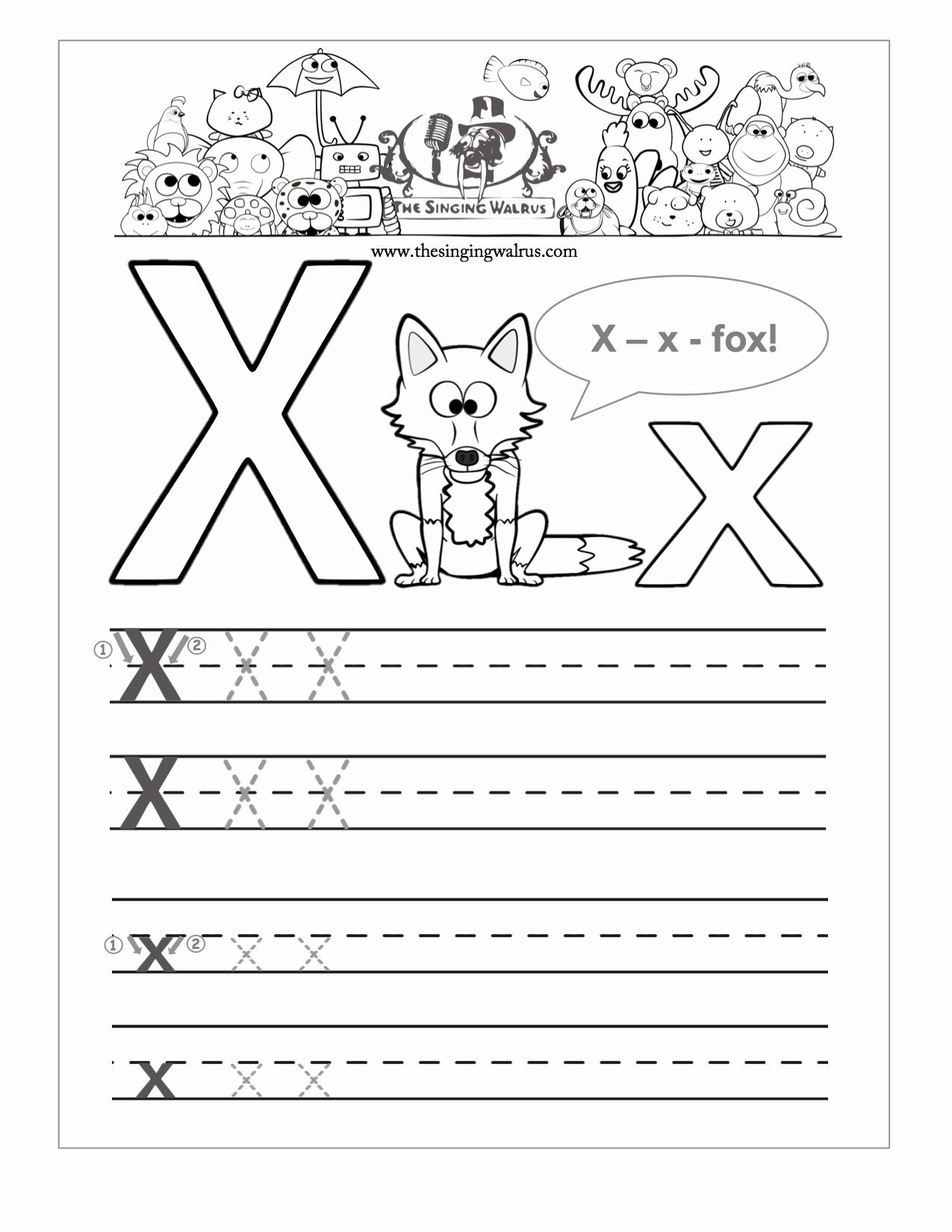 Letter X Worksheets Kindergarten Unique Letter X Worksheets