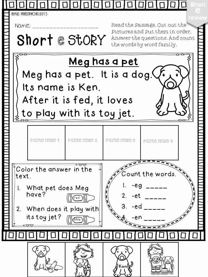 Long E Short E Worksheets Awesome Short E Worksheets