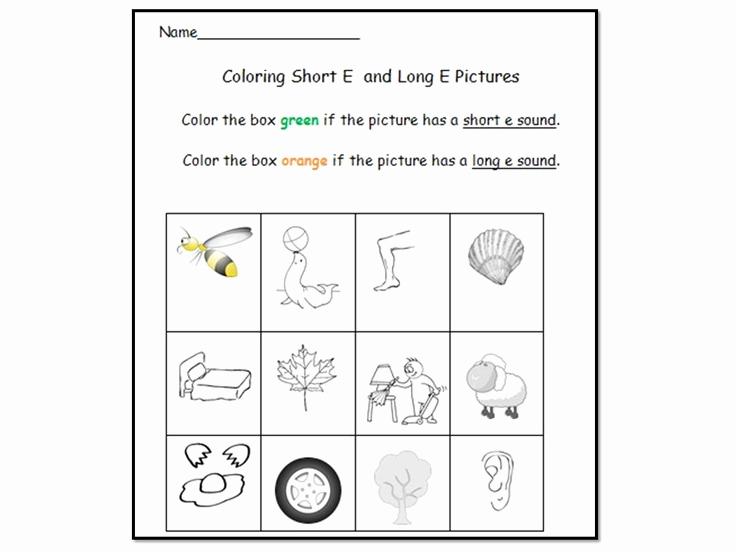 Long E Short E Worksheets Beautiful Long E Vowel sound Literacy Center Activities & Worksheets