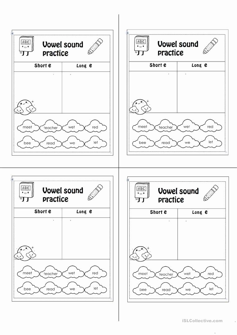 Long E Short E Worksheets Best Of Short E Long E Worksheet Free Esl Printable Worksheets