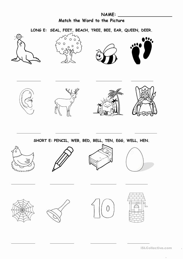 Long E Short E Worksheets Elegant Long and Short E Worksheet Free Esl Printable Worksheets