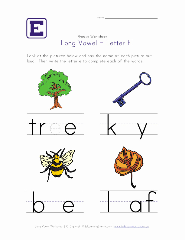 Long E Short E Worksheets Elegant Long E Worksheets