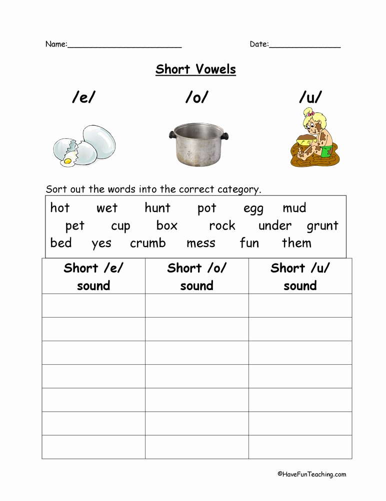 Long E Short E Worksheets Luxury Ea Words with Short E sound Worksheets 1000 Images About