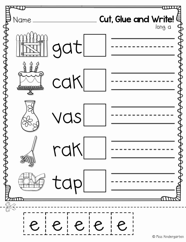 Long E Short E Worksheets New 16 Best Of Kindergarten Short Vowel sounds